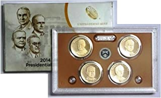 2014 S Presidential 4-coin Proof Set w/Box & COA Proof