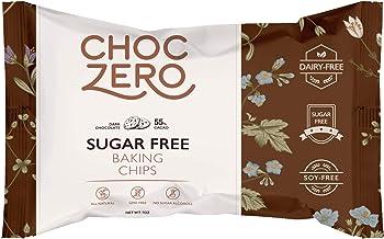 ChocZero's Dark Chocolate Chips - Sugar Free, Low Carb, Keto Friendly, 7oz