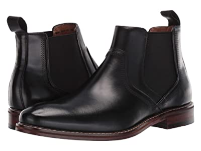 Stacy Adams Altair Plain Toe Chelsea Boot (Black) Men