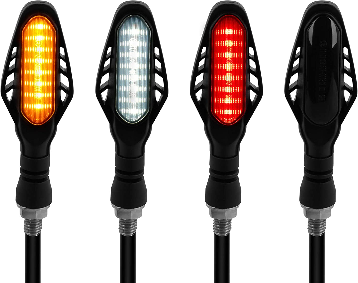 NTHREEAUTO 4PCS New life LED Sequential Turn Manufacturer OFFicial shop Signals Flowing I Motorcycle