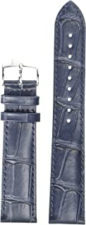 unisex-adult Leather Calfskin Watch Strap Blue T600041534