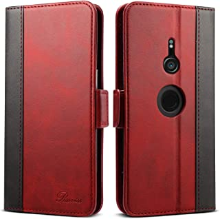 Xperia XZ3 ケース 手帳型 SO-01L SOV39 801SO スマホケース Rssviss エクスペリア カード収納 カバー 手帳 サイドマグネット スタンド機能付き 保護力抜群 高級PUレザ ー レッド(Sony Xperia XZ3対応)