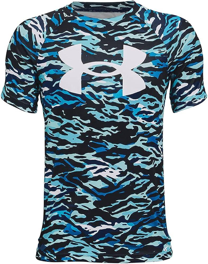 Under Armour Boys' Tech Big Logo Printed Short-Sleeve T-Shirt : Sports & Outdoors
