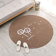 Round Office Chair Mat for Carpet, Hard-Floor Protector Dandelion Pattern Chair Mat for Living Room, Non-Slip Rugs Floor M...