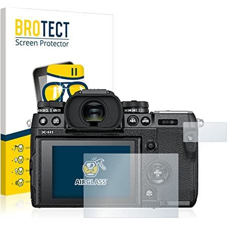 3 St/ück - AirGlass extrem Kratzfest Ultra-transparent BROTECT Panzerglas Schutzfolie kompatibel mit FujiFilm X-S10 Anti-Fingerprint