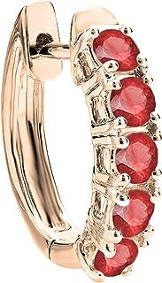 Dazzlingrock Collection Shinning - Pendientes de aro para mujer (1 unidad), disponible en varias piedras preciosas y diama...