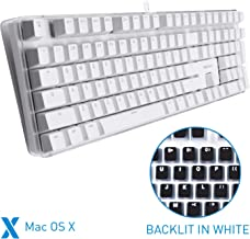 Macally Backlit Mechanical Keyboard for Mac - USB Wired Full Size - Compatible with Apple Mac Mini, Mac Pro, iMac, iMac Pro, MacBook Pro Air - Brown Switches
