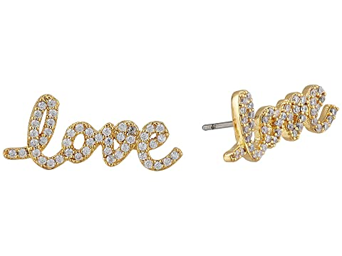 Kate Spade New York Say Yes Pave Love Studs Earrings