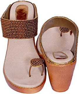 J.G.Shoes JG06 Bridal Footwear Sandles with Heels for Women/Girls (Copper)