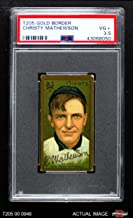 1911 T205 Christy Mathewson New York Giants (Baseball Card) PSA 3.5 - VG+ Giants