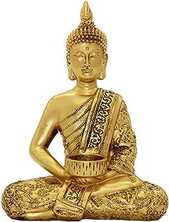 Resin Thai Buddha Statue Home Ornaments Wealth Lucky Figurine BS120
