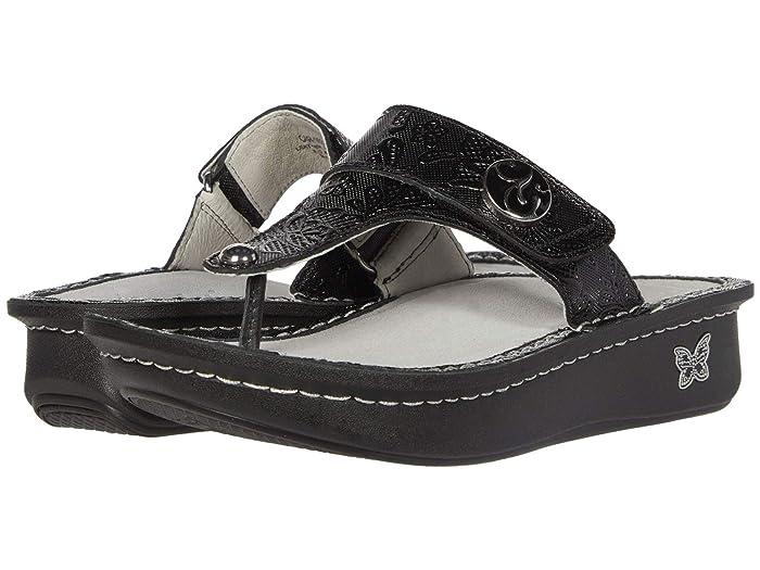 Alegria  Carina (Hello Doily Black) Womens Sandals