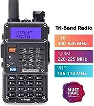 Mirkit x Baofeng Radio UV-5R MK3X 5W Power 2019 2100 mAh Li-ion Battery, Tri-Band Radio VHF, 1.25M, UHF, Mirkit Edition and Neck Strap Lanyard Mirkit Ham Radio Operator