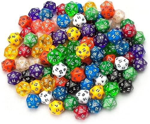 el más barato 100+ unidades al azar D20Polyhedral dados en varios varios varios Colors  calidad oficial