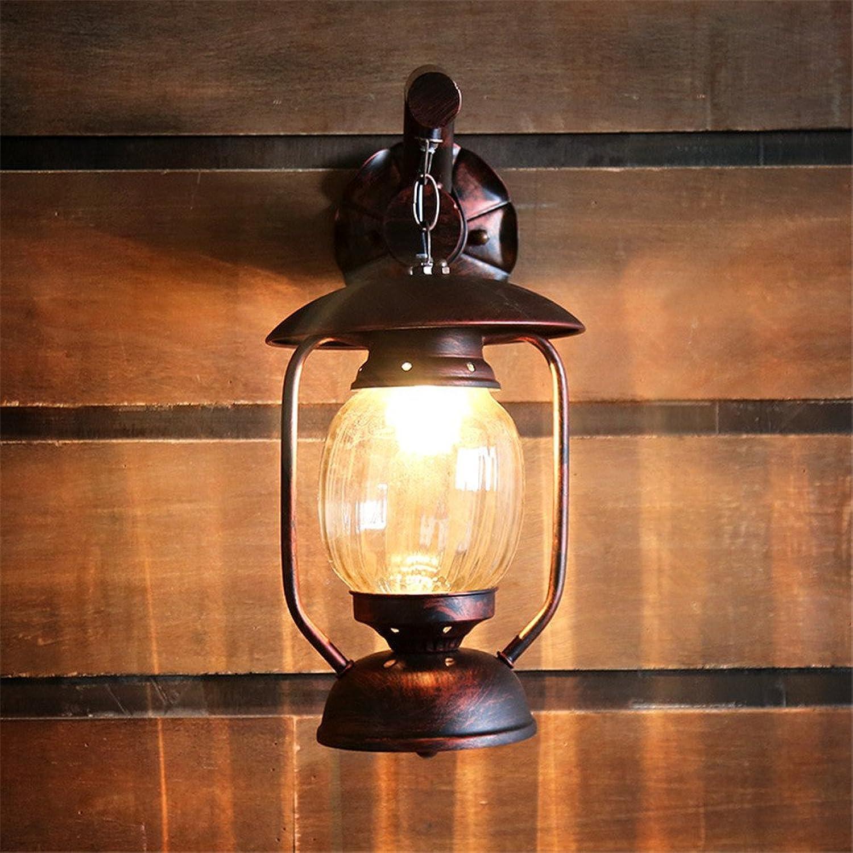 JJZHG Wandleuchte Wandlampe Wasserdicht Wandbeleuchtung Kreative Cafégangbalkon-Wandlampen-Dachbodenwand des Landkerosinlampenlichtes beinhaltet  Wandlampe,stoere wandlampen,wandlampen Design