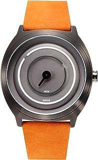 ساعة يد رجالية من تاكس ، انالوج بعقارب ، سوار جلدي ، بني ، TS1203B
