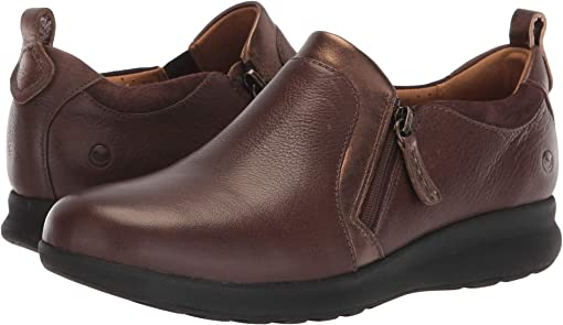 Dark Brown Leather/Suede Combination