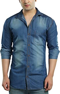 87e18a37658 Denim Men s Shirts  Buy Denim Men s Shirts online at best prices in ...