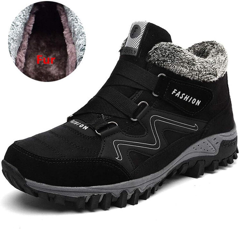 colorful Dream- Men Winter Boots 2019 Snow Boots Warm Men's Boots Work shoes Rubber Footwear Ankle shoes
