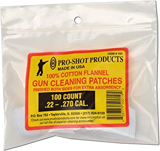 "Pro-Shot Products 100% Cotton Flannel Patches, 103, White, 2 1/4"" Patches"