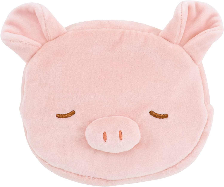 LivHeart Premium Nemu Nemu Animals Face Pouch Pig Pinky 4867121