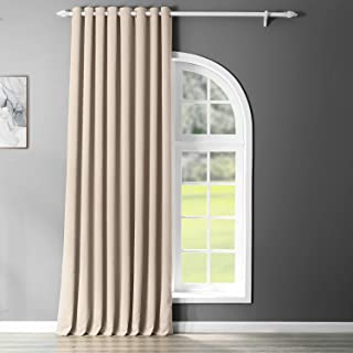 HPD Half Price Drapes Grommet Extra Wide Room Darkening Curtain100 X 84 (1 Panel), BOCH-120601-84-GRDW, Egg Nog, 100 X 84,...