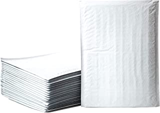 Empire Mailers #2 8.5 x 12-inch White Padded Envelopes, Self Seal Mailers, Bubble-Lined Shipping Envelopes, Mail-Approved Poly Bubble Mailers, Self-Sealed Mailing Packages, Pack of 25