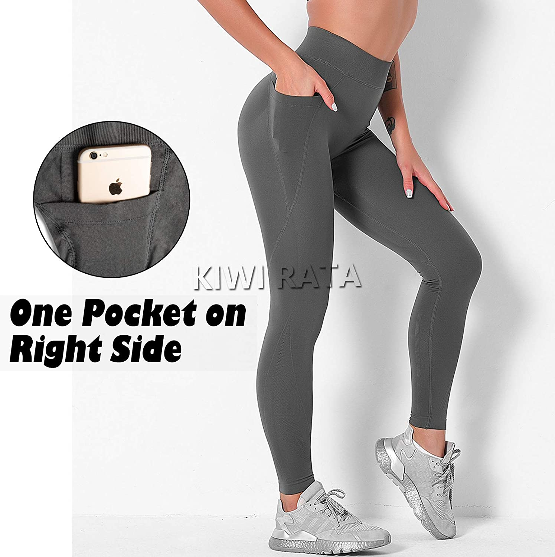 KIWI RATA Women Seamless High Waist Leggings Compression Tummy Control Butt Lift Yoga Pants Squat Proof Active Workout Tights