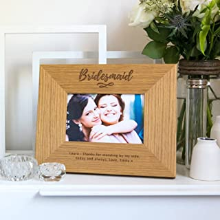 Personalized Bridesmaid Photo Frame - Bridal Party Thank You Gifts - Wedding Favour - Custom Picture Frame
