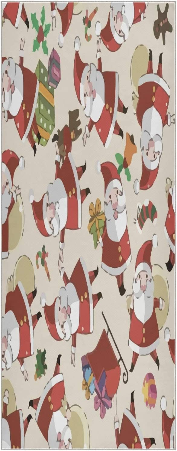 73 Inch Yoga Mat Towel Christmas Santa Slip Fol Gift Non Discount is also underway Superlatite Pattern