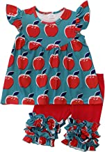 So Sydney Toddler & Girls Apple Back to School, Fall Collection Shorts, Capris, Complete Outfits