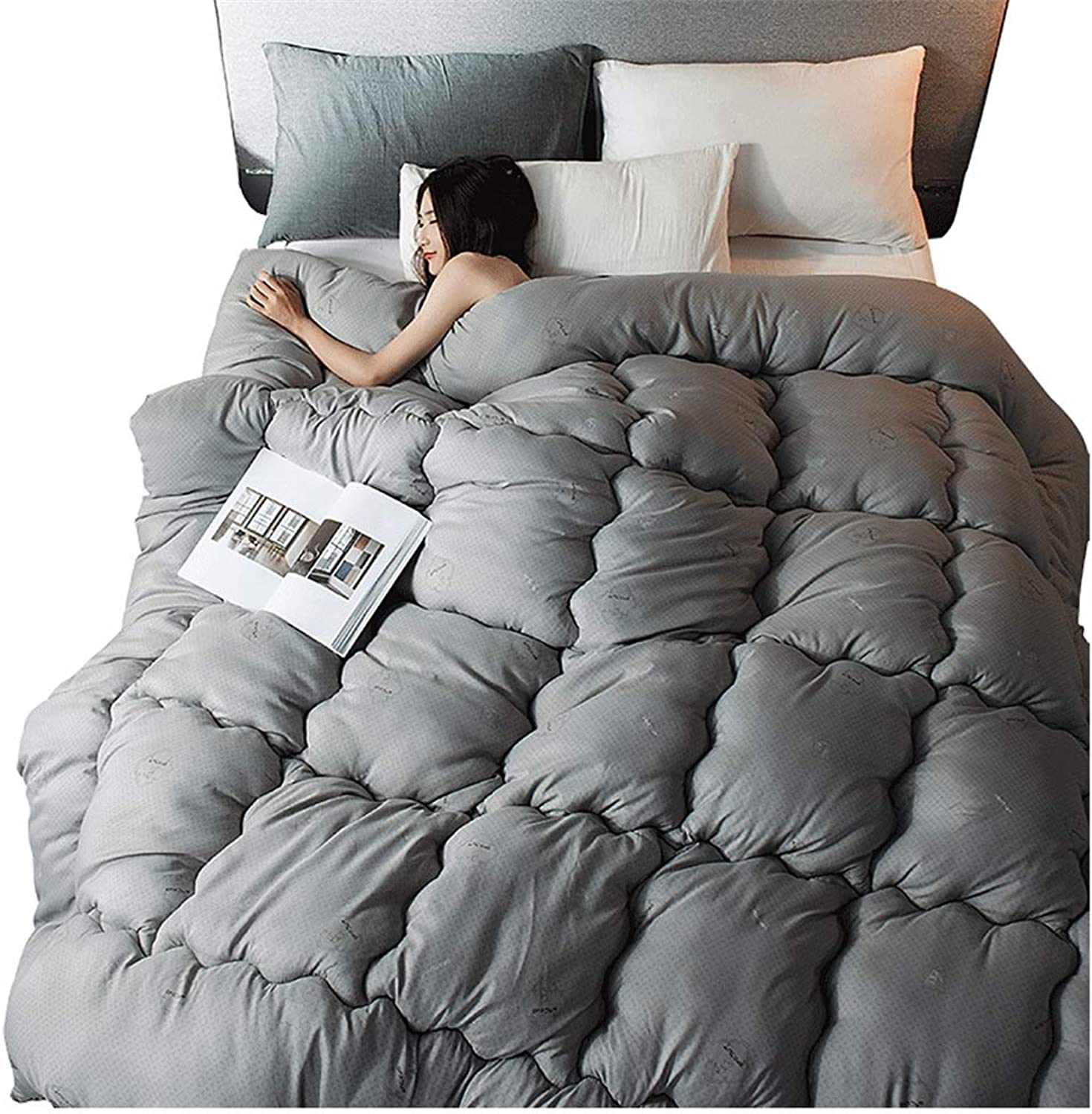 Quilt Thicken Warm and Soft for All Season Four Seasons Double All-Season Quilted Comforte Rhypoallergenic 100% Cotton Fabrics Quilted Comforter with Corner Tabs (Size   150cmx200cm2.5kg)