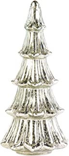 ART & ARTIFACT LED Lighted Mercury Glass Christmas Tree - Battery Operated Holiday Home Decor