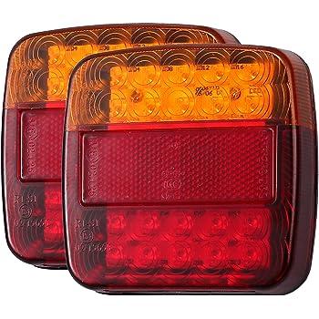 2 X 12V Led SMD Orange Seitenmarkierungsleuchten Licht Blinker Position Gehäuse