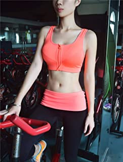 Cloud Hide Sports Bra S- X X X X X L Women Underwear Fitness Push Up Front Zipper Yoga Crop Top Bra Athletic Vest Sportswe...