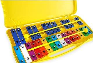 Carrillón - metalofono AX25N3 xilófono soprano de 25 teclas colores cromático Rockstar con estuche