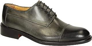 LEONARDO SHOES Luxury Fashion Mens 2485GREY Grey Lace-Up Shoes | Season Permanent