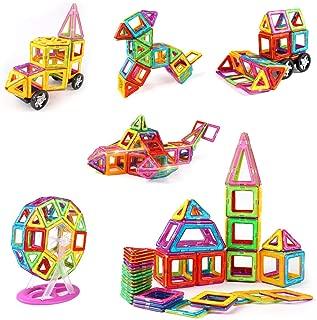 idoot Magnetic Blocks for Kids, Educational Building Toys Magnetic Tiles Ferris Wheel Stem Set - 100Pcs, Rainbow