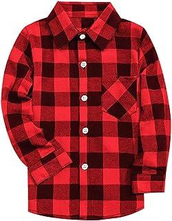Best Men & Boy Flannel Plaid Button Down Shirt, 3 Months - Men 9XL Reviews