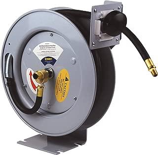 Primefit HRRUB380253 Industrial Grade Retractable Air Hose Reel with 25-Foot Rubber Air Hose