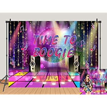 8x8FT Vinyl Backdrop Photographer,90s,Disco Girl 90s Best Hits Phrase Background for Baby Birthday Party Wedding Graduation Home Decoration