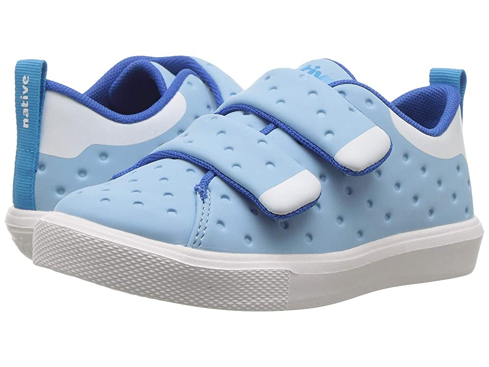 Native Kids Shoes Monaco HL CT (Toddler/Little Kid) (Sky BlueCoated/Shell White/Shell White) Kids Shoes