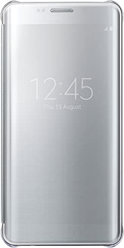 popular Samsung Galaxy S6 2021 Edge Plus Case S-View Clear Flip popular Cover - Silver online