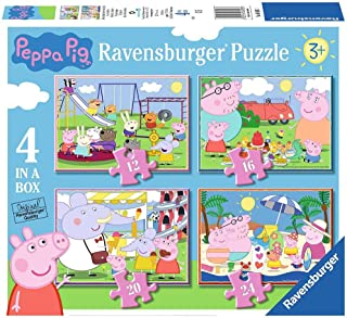 Ravensburger Peppa Pig 4in1box puzzel - 12+16+20+24 stukjes - kinderpuzzel
