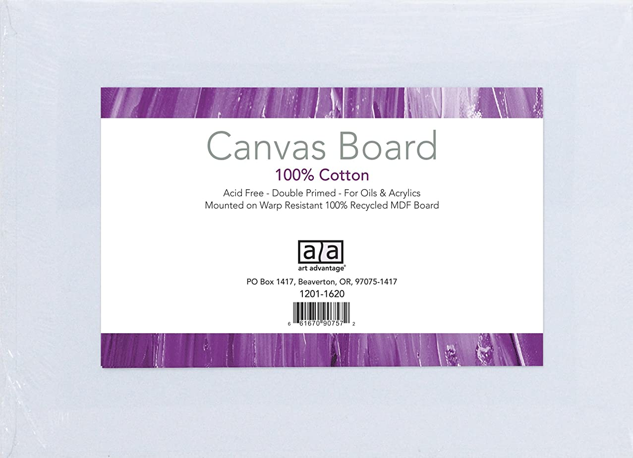 Art Advantage 16-Inch by 20-Inch Canvas Board, 3-Pack (1230-16)