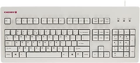 CHERRY MX Board Silent Keyboard - White - Silent MX Switch - 104 Key Layout - USB - Retro Look