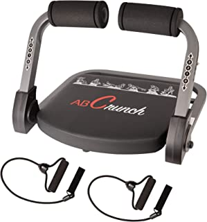 AOPARTS Ab Machine,abs Workout,Abdominal Exercise Equipment with Resistance Bands and Sports Action DVDs,Stair Master Crun...
