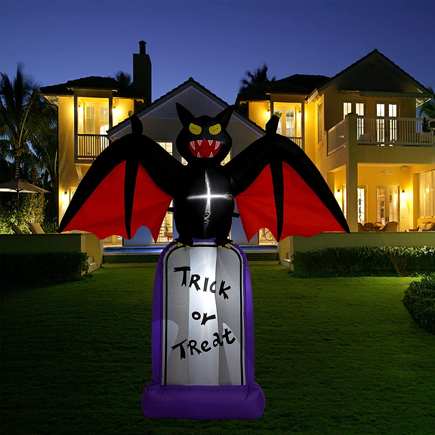 Halloween Inflatable Fort Worth Mall Outdoor Decoration 4 FT in New Free Shipping Tombstone Bat wi