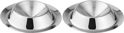 Preisvergleich für FACKELMANN Eibecher, Eierbecher aus Edelstahl, Eierhalter für den Frühstückstisch (Farbe: Silber), Menge: 2 Stück