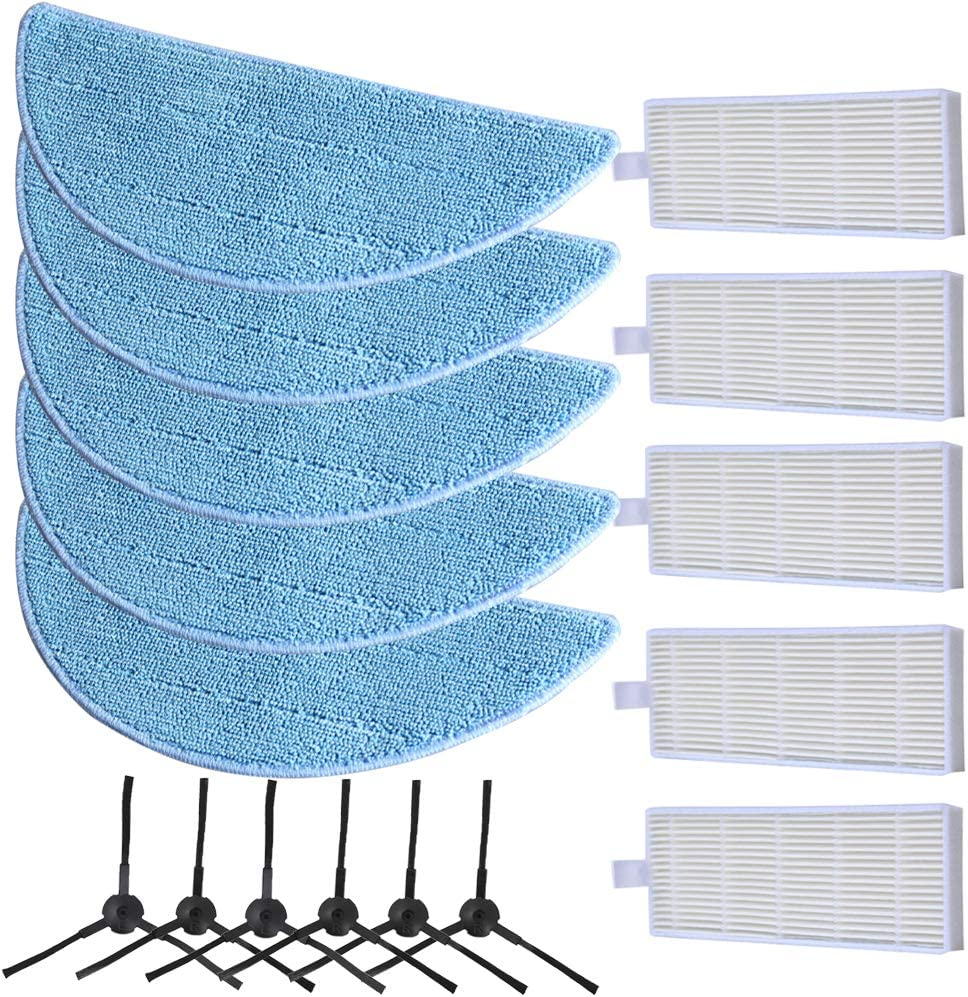 Clearance SALE Limited time EAGLES 6pcs Side Brush + 5pcs Cloth Mop Surprise price Repla Filter Hepa